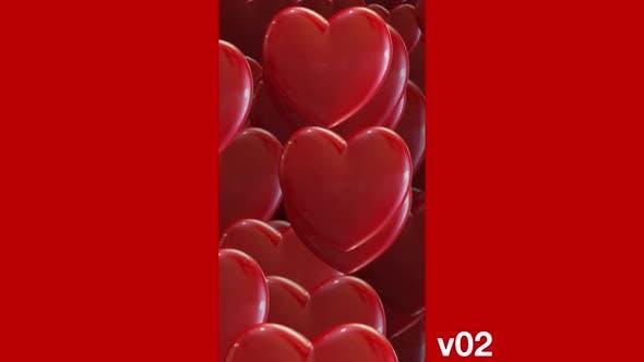 Transition Heart Vertical Video