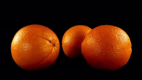 Thumbnail for Oranges on a Black Background