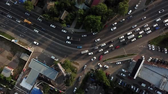 Thumbnail for Drones Eye View - Traffic Jam Top View, Transportation Concept 10