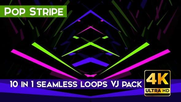 Thumbnail for Pop Stripe VJ Loops Pack