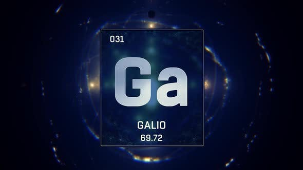 Gallium as Element 31 of the Periodic Table on Blue Background