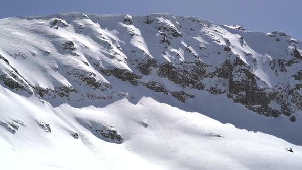Cover Image for Snow Eaves on Snowy Mountain Ridge