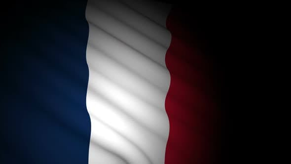 Thumbnail for France Flag Blowing in Wind