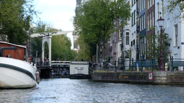 Thumbnail for Holland Amsterdam Canal And Boats Super Slow Motion