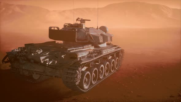 Cover Image for World War II Tank in Desert in Sand Storm