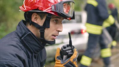 Fireman Reporting Car Crash on Radio