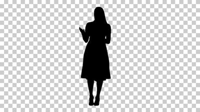 Silhouette  woman clothes , Alpha Channel