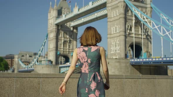 Thumbnail for Young tourist woman in London
