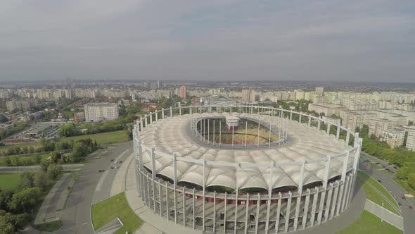Aerial view of the National Stadium