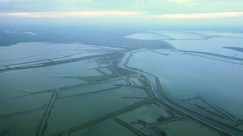 Antiflooding Dam System in Picturesque Venetian Lagoon