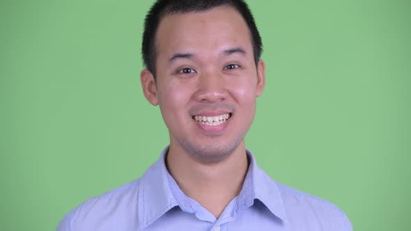 Thumbnail for Face of Happy Asian Businessman Smiling