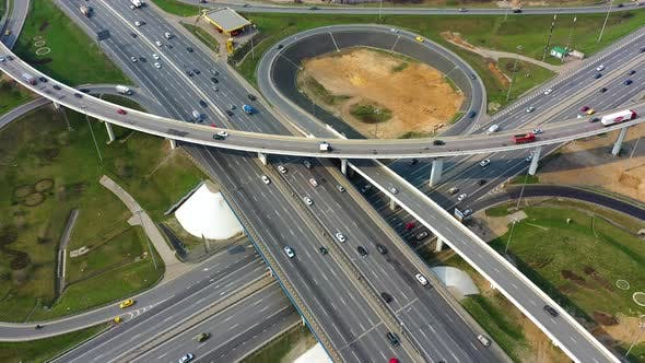 Thumbnail for Freeway Intersection Traffic Trails in Moscow