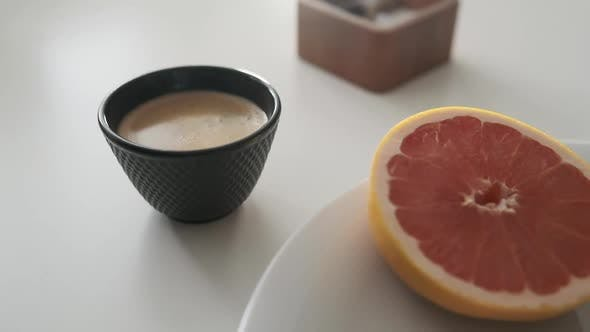 Thumbnail for Simple Yet Scrumptious Breakfast Meal with Citrus Fruit and Egg