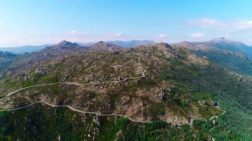 Zig Zag Winding Road on Mountains