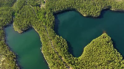 Lake and Forest in Finland. Beautiful Nature of Finland