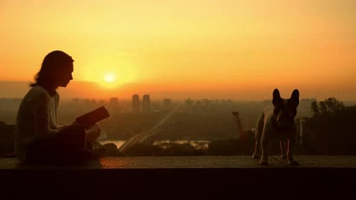 Couple Sits at the Observation Deck