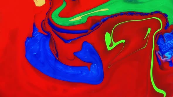 Thumbnail for Abstract Colorful Swirl And Color Chemical Exploding