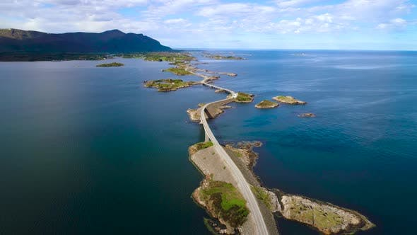 Thumbnail for Atlantic Ocean Road Aerial Norway
