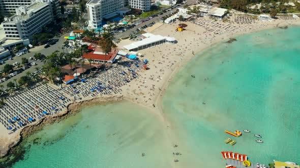 Thumbnail for Aerial View of Beautiful Beach of Mediterranean