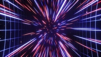 Hyperspace Jump in Outer Space