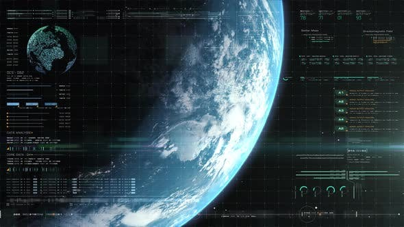 Futuristic Holographic Earth Head Up Display 06