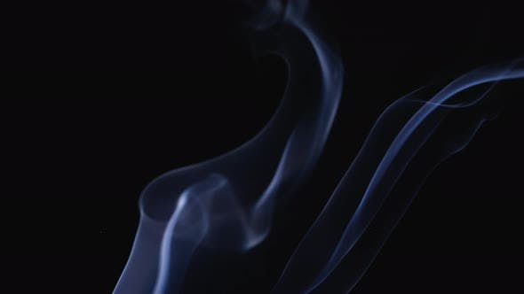 A Realistic Stream of Fragrant Smoke Rises Into the Air