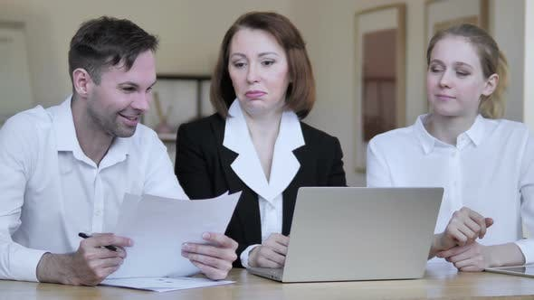 Thumbnail for Business People Discussing Work
