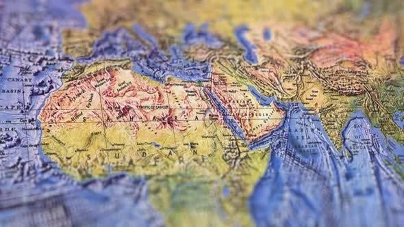 Thumbnail for Asia Landscaped Paper Map, Slider Shot