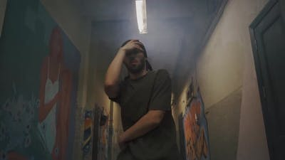 Man Practising in Break Dancing
