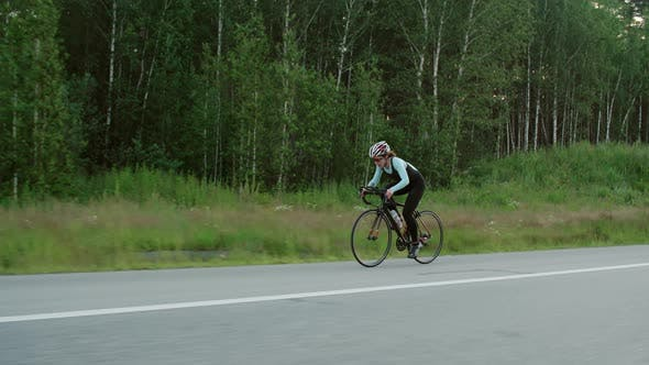 Thumbnail for Female Bicycle Racer Training