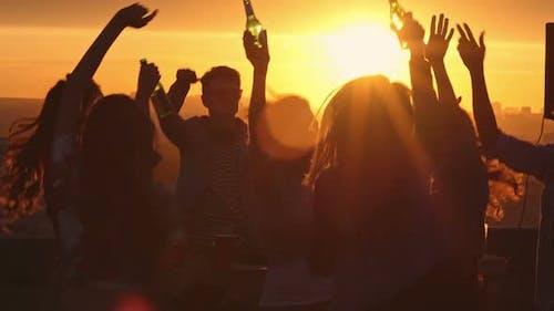 Sunset Celebration on Rooftop