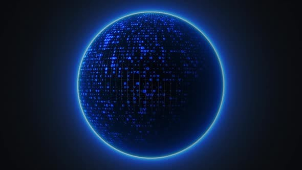 Thumbnail for Abstract Blue Technology Crypto Sphere