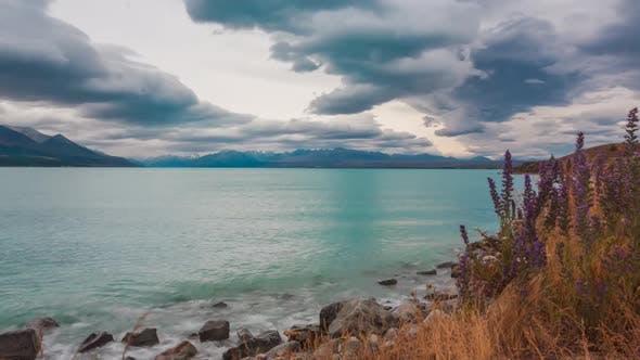 Thumbnail for Lake Tekapo shore timelapse