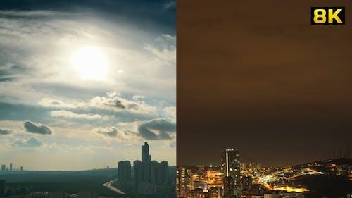 Day to Night City Ambiance