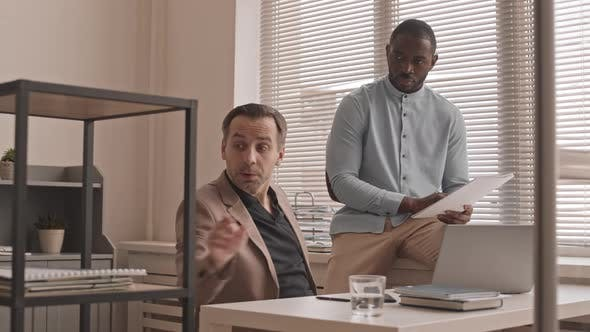 Multiethnic Coworkers in Office