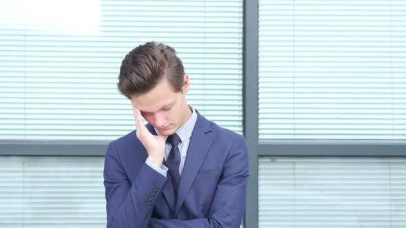 Thumbnail for Tired Frustrated  Young Businessman, Outdoor