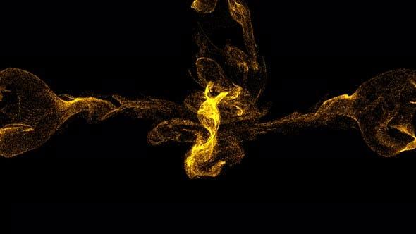 Thumbnail for Gold Particles Fluid Collision 4K