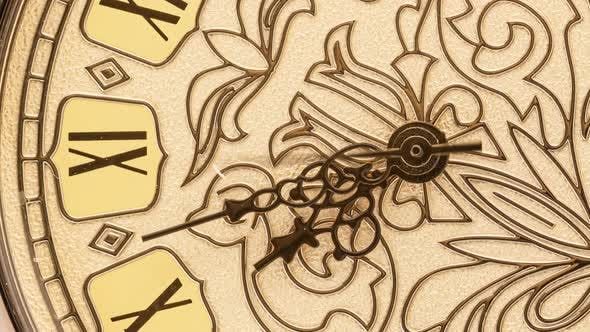 Thumbnail for Antique Clock Dial Close-up. Vintage Pocket Watch.