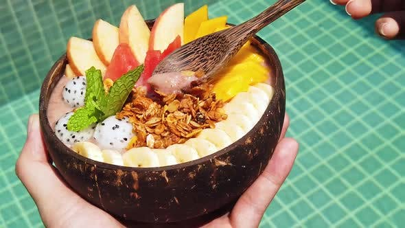 Thumbnail for Vegan Smoothie Bowl With Fresh Fruits And Superfoods