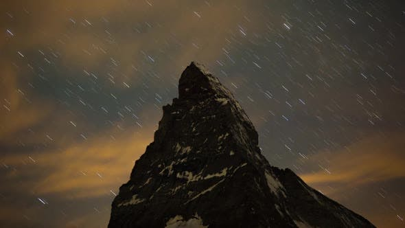 Thumbnail for matterhorn alps switzerland mountains snow peaks ski timelapse stars night