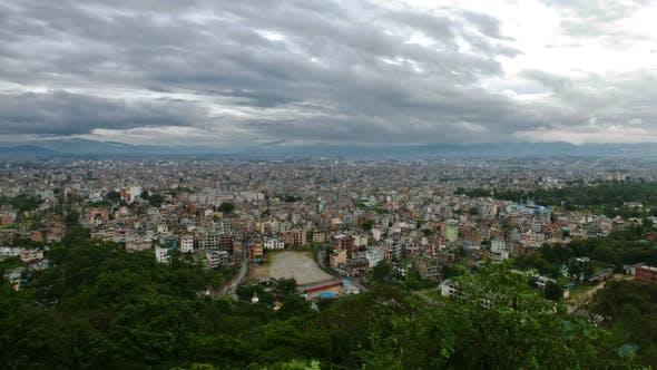 Time-lapse of the Kathmandu, Nepal cityscape.