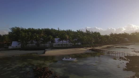 Thumbnail for Flying Over Coastal Resort and Green Areas of Mauritius Island
