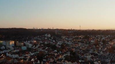Aerial View of Houses in Town Neighbourhood