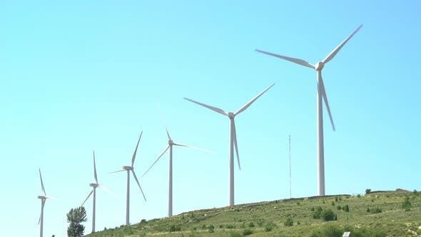 Cover Image for Wind Power Field. Renewable Energy