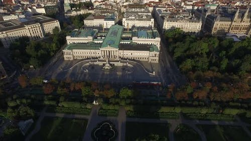 Aerial of the Parliament Building and The City Hall