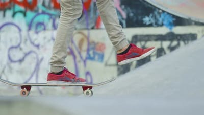 A skater speeding