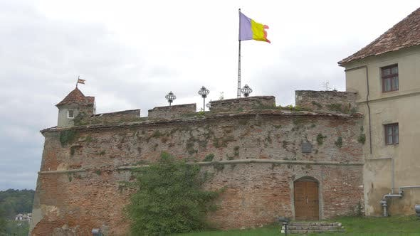 Romanian flag at Citadel of The Guard