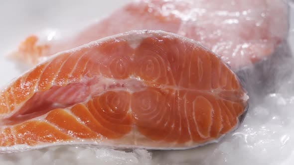 Thumbnail for Fresh Salmon Lies in the Refrigerator