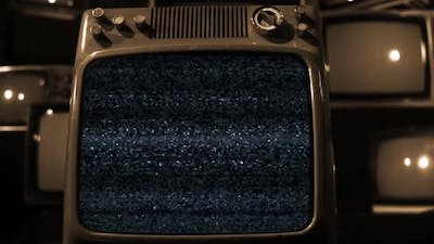 Retro TV with Static Noise.
