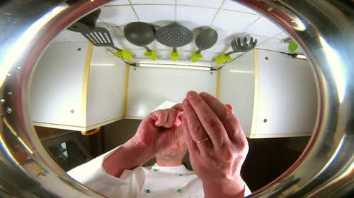 Chef Prepares Vegetable Broth